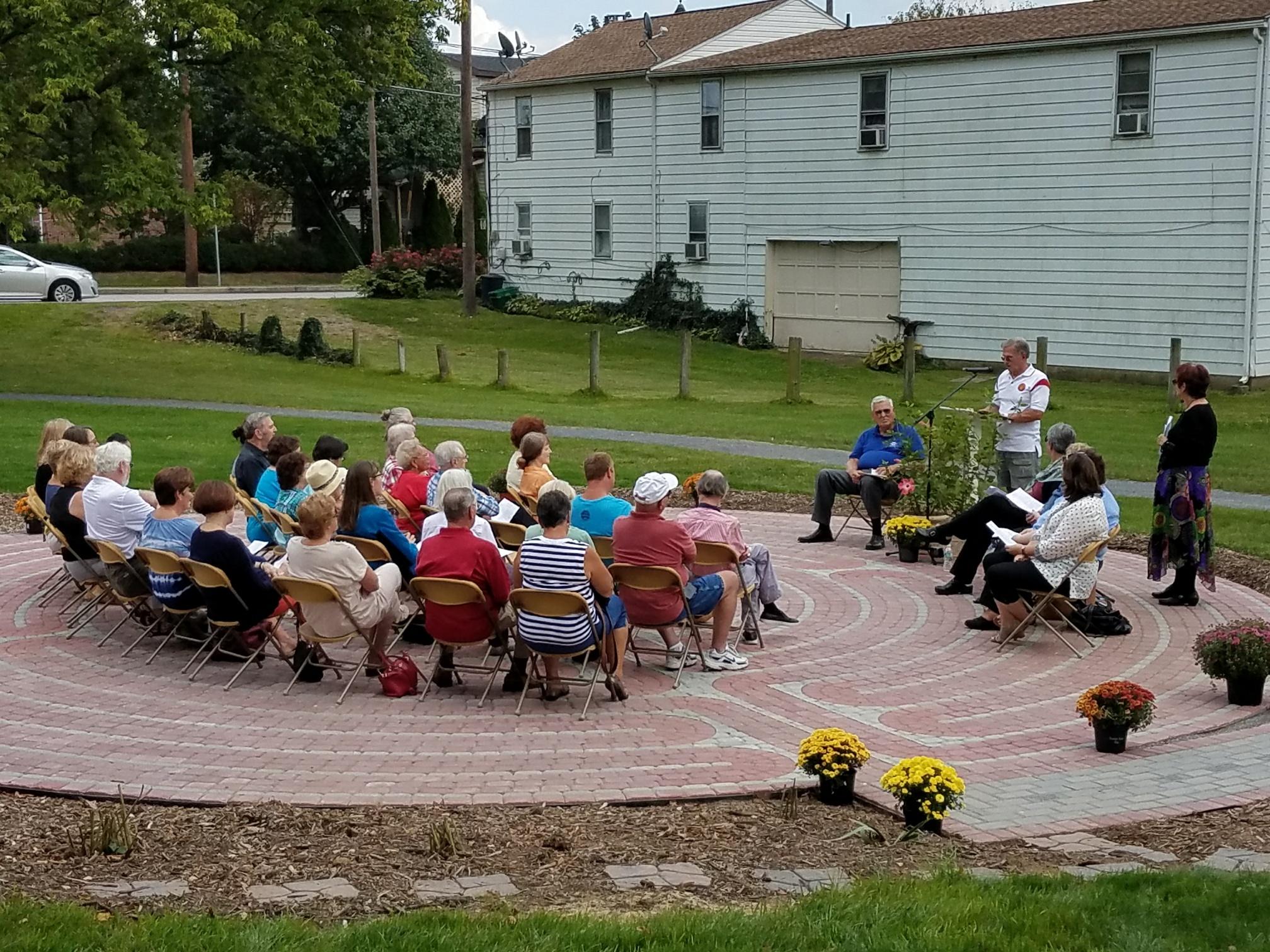 Biddle Mission Labyrinth Dedication East Side Neighbors Association Of Carlisle Pa